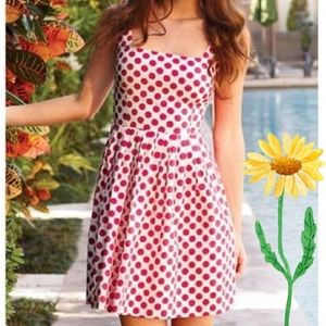 Delia's Pink & Cream Retro Polkadot Cotton Dress